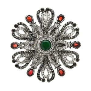 Vintage Crystal Rhinestone Brooch Pendant